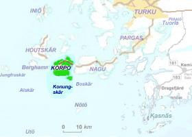 Korppoo - skärgårdskarta