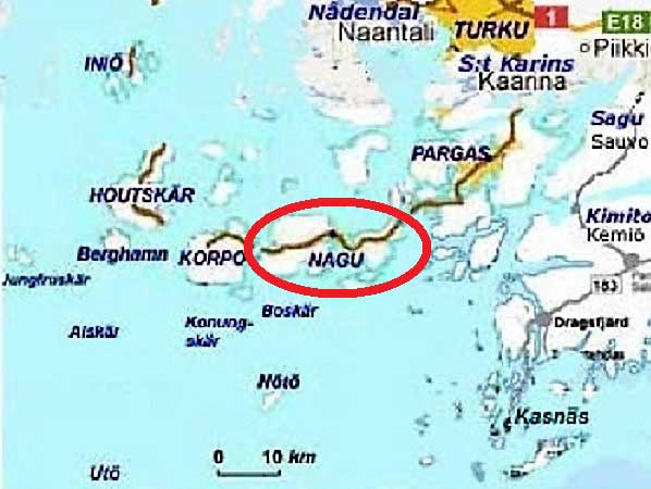 Nauvo Archipelago map