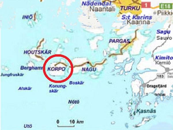 Korppoo map
