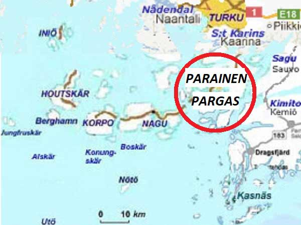 Parainen - Pargas map