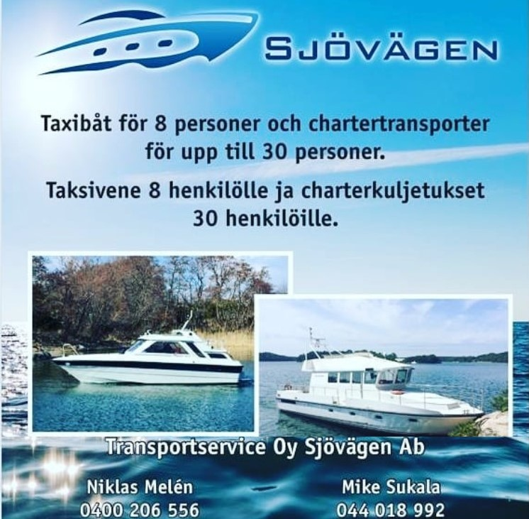 Boat taxi and Sea transport - Sjövägen Oy Ab - Nagu