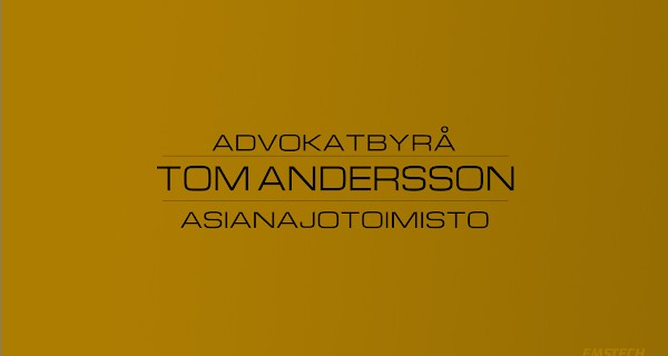 Lawyer agency Tom Andersson