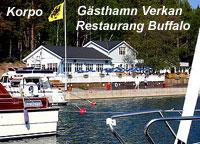 Korpo, gästhamn Verkan, Restaurang Buffalo