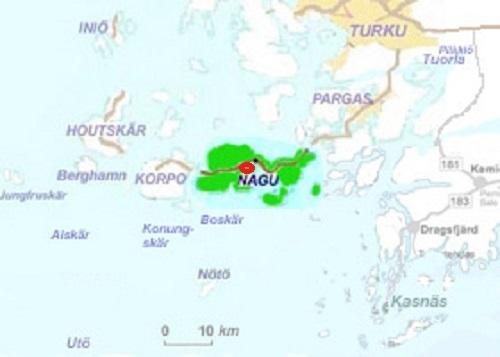 Nauvo map